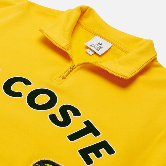 Мужская толстовка Lacoste Live Loose Fit Fleece Yellow