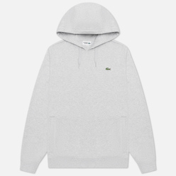 Мужская толстовка Lacoste Sport Fleece Hoodie Grey Chine/Light Grey