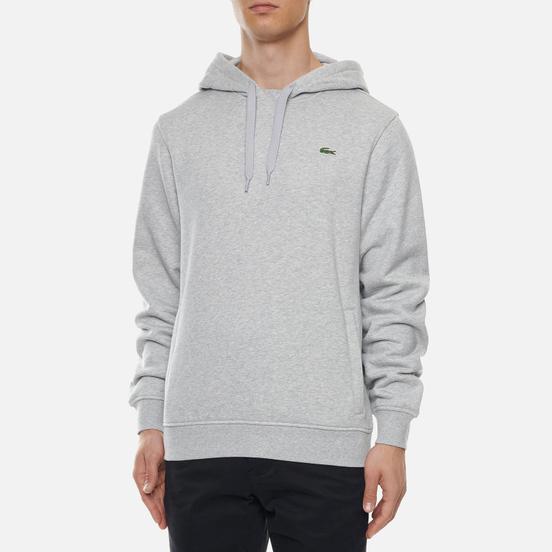 Мужская толстовка Lacoste Sport Fleece Hoodie Grey Chine/Light Grey