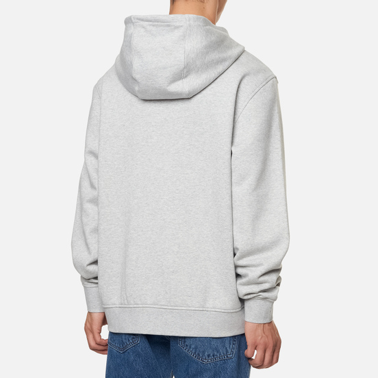 Мужская толстовка Lacoste Sport Lightweight Bi-Material Hoodie Grey Chine/Light Grey