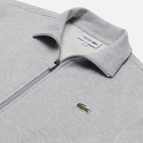 Мужская толстовка Lacoste Sport Cotton Blend Fleece Zip Grey Chine/Light Grey