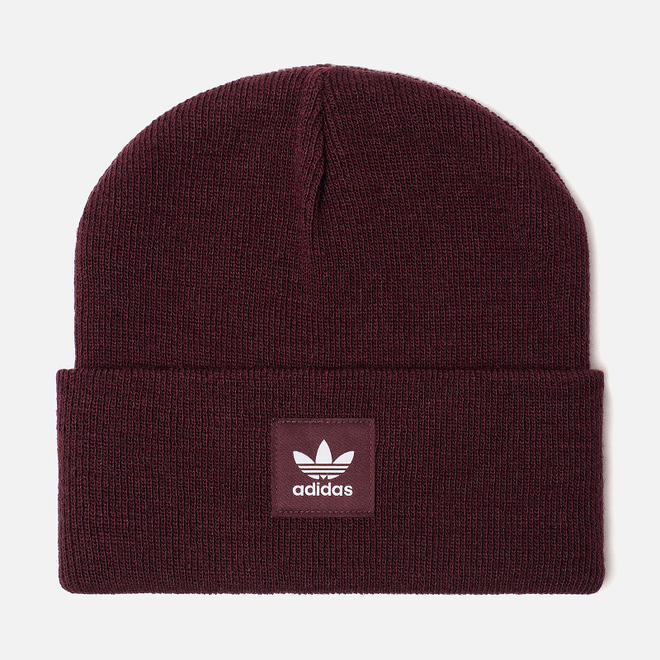 Шапка adidas Originals Adicolor Cuff Knit Maroon
