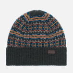 Barbour Malrose Fairisle Beanie Hat Olive Multi photo- 0