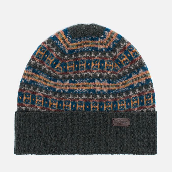 Barbour Malrose Fairisle Beanie Hat Olive Multi