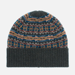 Barbour Malrose Fairisle Beanie Hat Olive Multi photo- 2