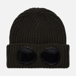 Шапка C.P. Company Goggle Beanie Wool Dark Olive фото- 0
