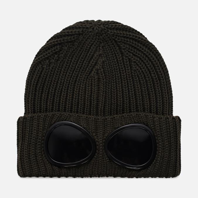 Шапка C.P. Company Goggle Beanie Wool Dark Olive