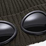 Шапка C.P. Company Goggle Beanie Wool Dark Olive фото- 1