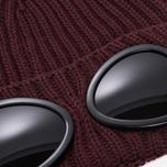 Шапка C.P. Company Goggle Beanie Wool Fudge фото- 1