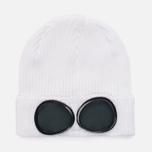 Шапка C.P. Company Goggle Beanie Gauze White фото- 0