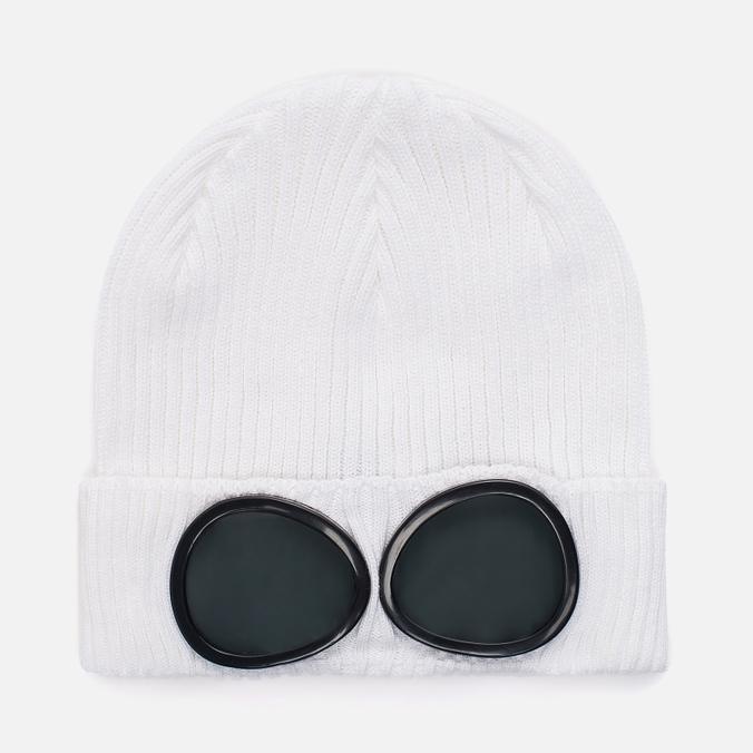 Шапка C.P. Company Goggle Beanie Gauze White