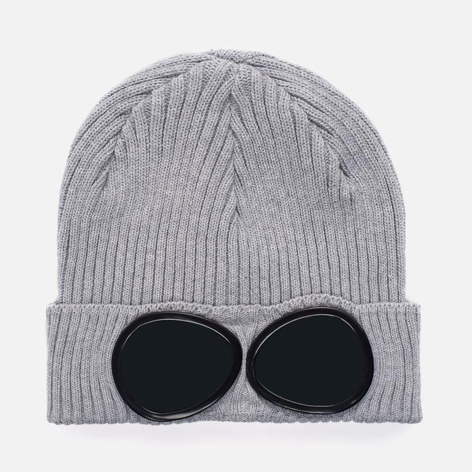 Шапка C.P. Company Goggle Beanie Grey Melange