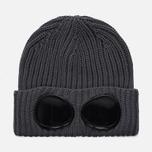 Шапка C.P. Company Goggle Beanie Wool Metall Grey фото- 0