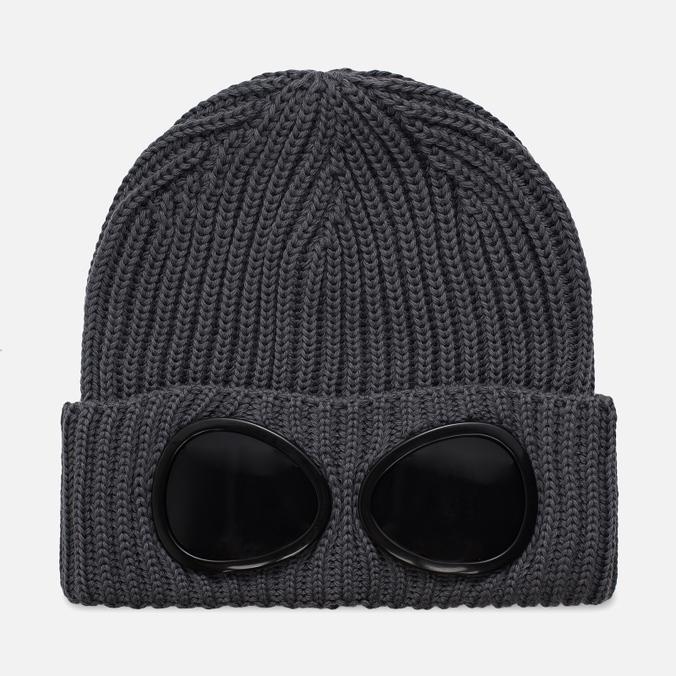Шапка C.P. Company Goggle Beanie Wool Metall Grey
