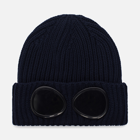 Шапка C.P. Company Goggle Beanie Wool Total Eclipse
