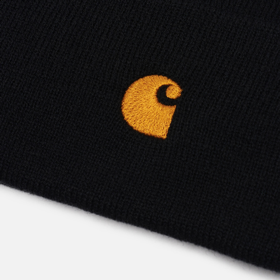 Шапка Carhartt WIP Chase Black/Gold
