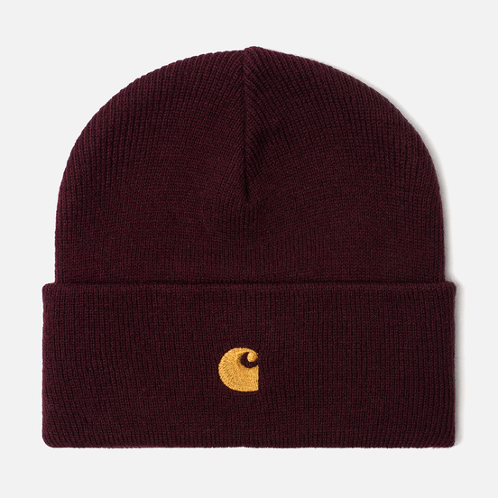 Шапка Carhartt WIP Chase Merlot/Gold