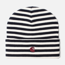 Шапка Carhartt WIP Haldon Stripe Dark Navy/Wax фото- 0