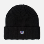 Шапка Champion Reverse Weave Merino Knit Beanie Logo Black фото- 0