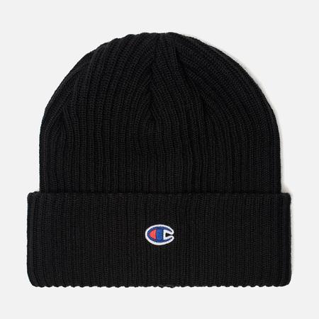 Шапка Champion Reverse Weave Merino Knit Beanie Logo Black