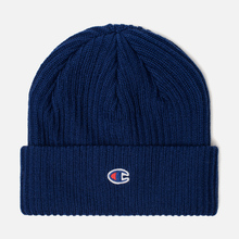 Шапка Champion Reverse Weave Merino Knit Beanie Logo Blue фото- 0
