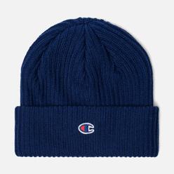 Шапка Champion Reverse Weave Merino Knit Beanie Logo Blue