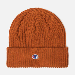 Шапка Champion Reverse Weave Merino Knit Beanie Logo Brown