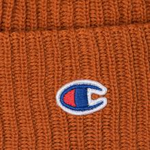 Шапка Champion Reverse Weave Merino Knit Beanie Logo Brown фото- 1