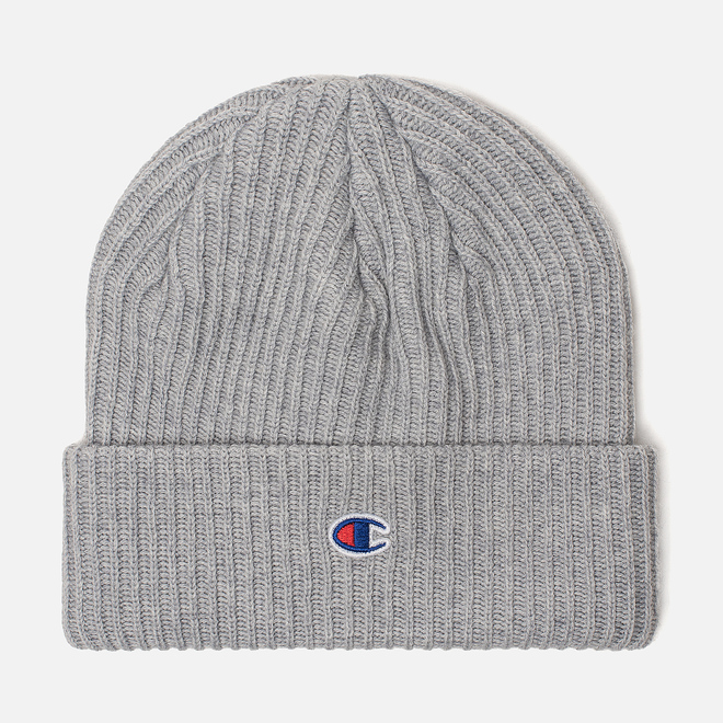 Шапка Champion Reverse Weave Merino Knit Beanie Logo Light Grey