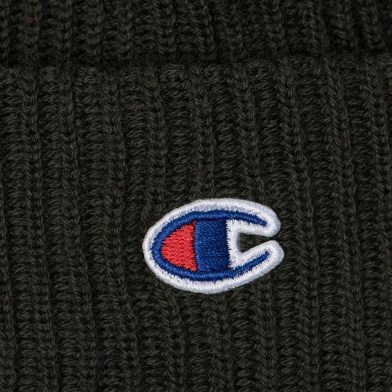 Шапка Champion Reverse Weave Merino Knit Beanie Logo Military Green