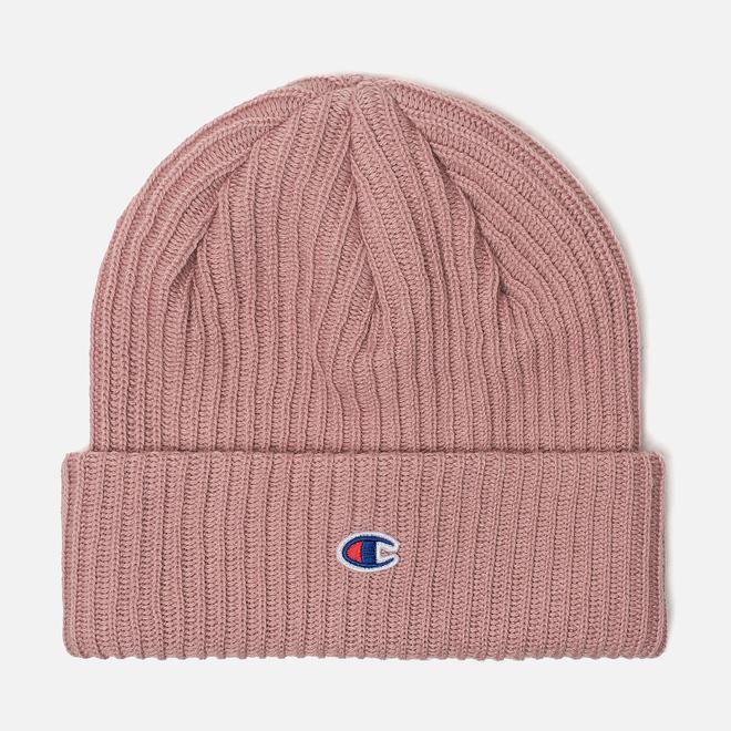 Шапка Champion Reverse Weave Merino Knit Beanie Logo Pink