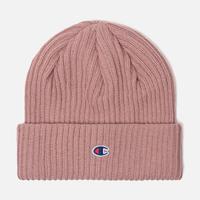 Шапка Champion Reverse Weave Merino Knit Beanie Logo Pink 804412-PS096 94164042b6a9
