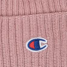 Шапка Champion Reverse Weave Merino Knit Beanie Logo Pink фото- 1