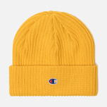 Шапка Champion Reverse Weave Merino Knit Beanie Logo Yellow фото- 0