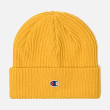 Шапка Champion Reverse Weave Merino Knit Beanie Logo Yellow фото- 0