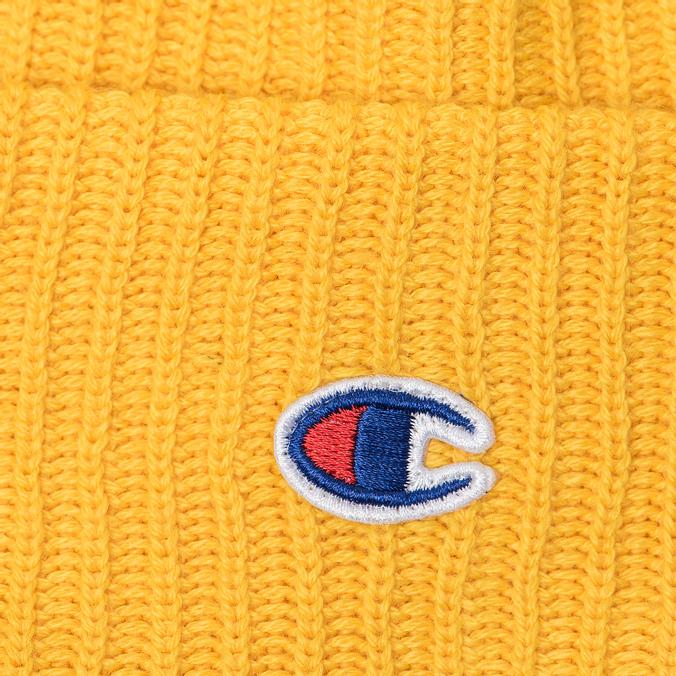 Шапка Champion Reverse Weave Merino Knit Beanie Logo Yellow 804412-YS026 bf7dae6b3d4b