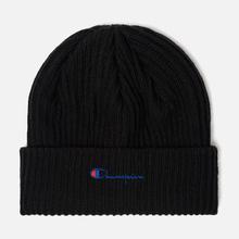 Шапка Champion Reverse Weave Merino Knit Beanie Script Black фото- 0