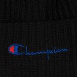 Шапка Champion Reverse Weave Merino Knit Beanie Script Black фото- 1