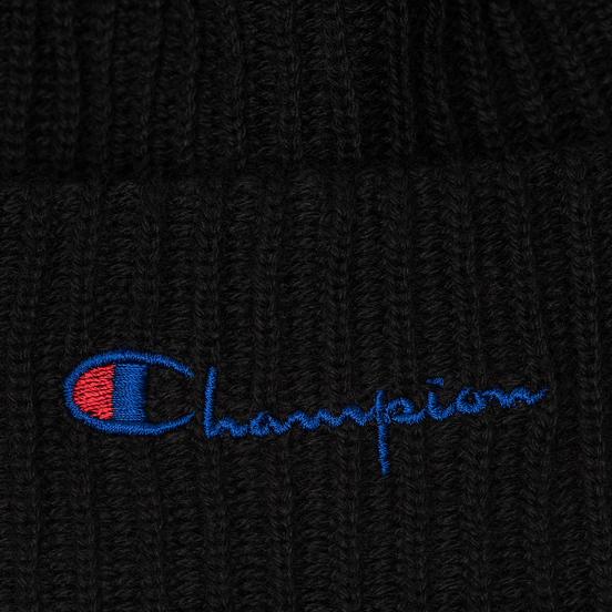 Шапка Champion Reverse Weave Merino Knit Beanie Script Black