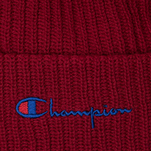 Шапка Champion Reverse Weave Merino Knit Beanie Script Burgundy фото- 1