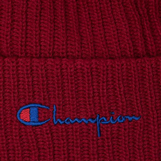 Шапка Champion Reverse Weave Merino Knit Beanie Script Burgundy