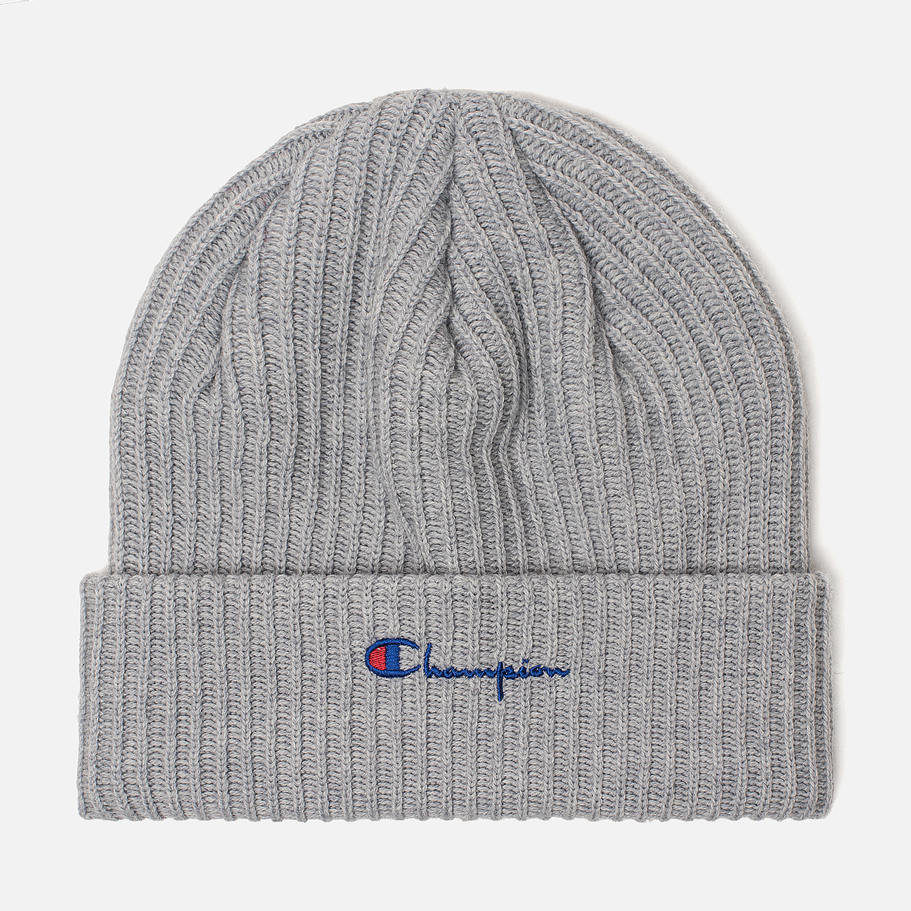 Шапка Champion Reverse Weave Merino Knit Beanie Script Light Grey