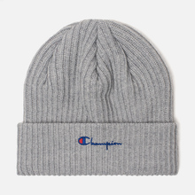 Шапка Champion Reverse Weave Merino Knit Beanie Script Light Grey фото- 0
