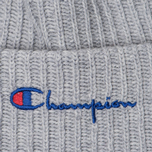 Шапка Champion Reverse Weave Merino Knit Beanie Script Light Grey фото- 1