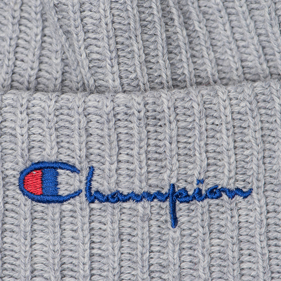 Шапка Champion Reverse Weave Merino Knit Beanie Script Light Grey
