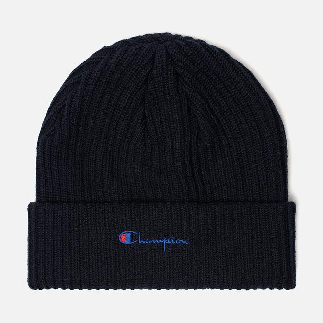 Шапка Champion Reverse Weave Merino Knit Beanie Script Navy