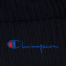 Шапка Champion Reverse Weave Merino Knit Beanie Script Navy фото- 1
