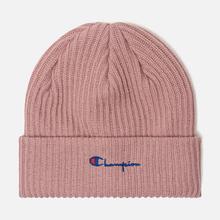 Шапка Champion Reverse Weave Merino Knit Beanie Script Pink фото- 0