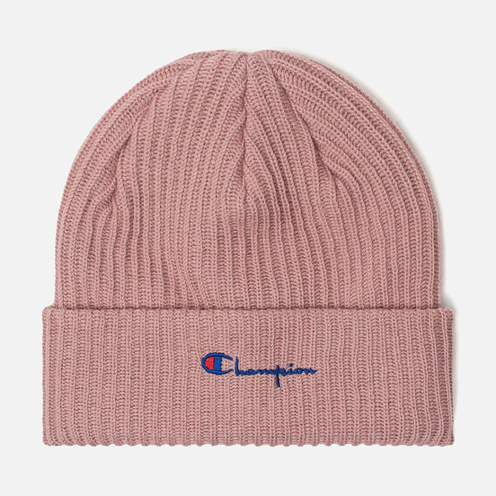 Шапка Champion Reverse Weave Merino Knit Beanie Script Pink