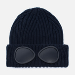 Детская шапка C.P. Company U16 Iconic Goggle Navy фото- 0